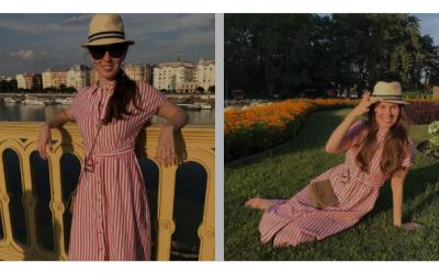 Csíkos lenvászon ruhák – A nyár kulcsdarabjai!